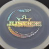 Justice - glow - moonshine-glow - silver-circles - 170g - pretty-flat - neutral