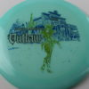 Outlaw - Glow - 5 Year Anniversary - blue - green-lines - black - 173g - 3311 - somewhat-flat - somewhat-gummy