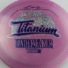 Undertaker - Titanium - Paul McBeth 4x - pinkpurple - blue - silver-fracture-and-dots - 170-172g - somewhat-domey - somewhat-stiff