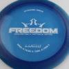 Freedom - blue - lucid - white - 172g - pretty-flat - somewhat-gummy