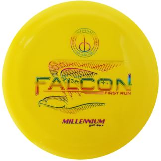 Millennium Falcon disc golf - Yellow with Rainbow foil