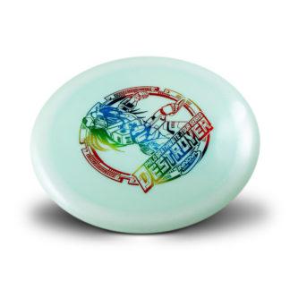 Philo Destroyer - Blue plastic Rainbow foil stamp