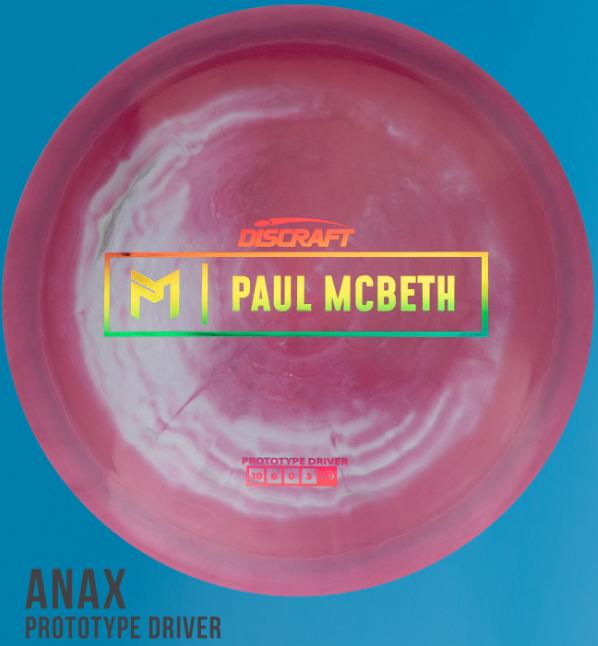 Prototype Anax - Pink Swirl - Rainbow foil stamp