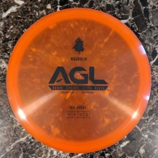 AGL Magnolia orange alpine plastic with a black stamp