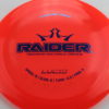 Raider - Lucid - pink-orange-red - blue - silver-squares - 171g - somewhat-domey - neutral