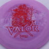 Valor - Icon - First Run - red-lines - 180g - slight-dome-to-a-puddle-top-center - somewhat-stiff