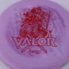 Valor - Icon - First Run - red-lines - 180g - 3311 - slight-dome-to-a-puddle-top-center - neutral
