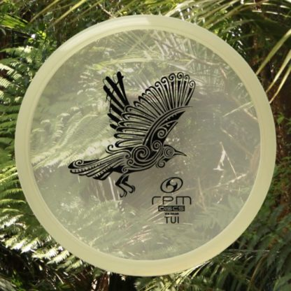 RPM Tui Clear cosmic plastic with black stamp