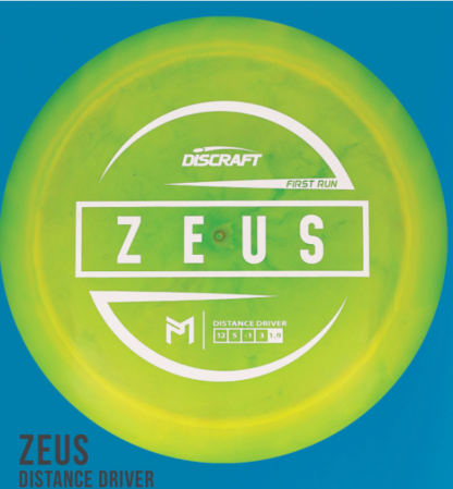First Run Zeus - Swirly Green with White foil