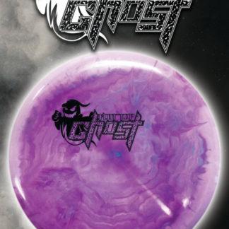 Swirly Purple Flat Top Ghost - Black stamp