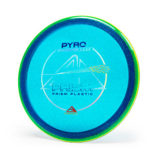 Axiom pyro - blue core, yellow/green rim - 3 foil stamp