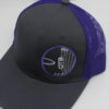 Mesh Curved Bill Snapback - grey - snapback - purple - grey - purple - white - silver