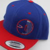 Flatbill Snapback Hat - royal-blue - red - red - white - silver