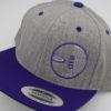 Flatbill Snapback Hat - heather-grey - purple - purple - white - silver