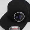 Mesh Curved Bill Snapback - black - s-m - black - black - purple - white - silver