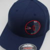 Flexfit Curved Bill Hat - navy - navy-blue - s-m - red - white - silver