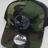 Mesh Curved Bill Snapback - camo - snapback - black - camo - purple - white - silver
