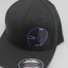Flexfit Curved Bill Hat - grey - grey - s-m - purple - white - silver