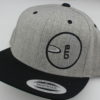 Flatbill Snapback Hat - heather-grey - black - black - white - silver