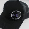Mesh Curved Bill Snapback - black - snapback - grey - black - purple - white - silver