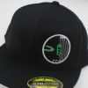 Fitted Flatbill Hat - black - black - green - 71-4-75-8 - white - silver
