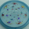 Recluse - Pinnacle - First Run - blue - acid-party-time-circles - silver-dots-mini - 175g - super-flat - neutral