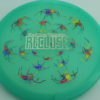 Recluse - Pinnacle - First Run - glow-green-blue - acid-party-time-circles - silver - 175g - super-flat - neutral