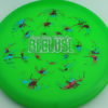 Recluse - Pinnacle - First Run - green - camo-red-green-blue - silver-dots-mini - 174g - super-flat - neutral