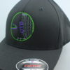 Flexfit Curved Bill Hat - grey - grey - s-m - green - purple - grey