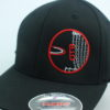 Flexfit Curved Bill Hat - black - black - s-m - red - white - silver