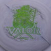 Valor - Icon - First Run - green-lines - 180g - 3311 - slight-dome-to-a-puddle-top-center - somewhat-stiff