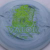 Valor - Icon - First Run - green-lines - 180g - 3311 - slight-dome-to-a-puddle-top-center - neutral