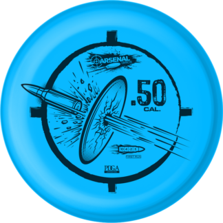 Arsenal Discs .50 Cal blue with black stamp