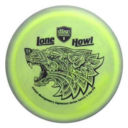 Lone Howl Swirly PD - Yellow/Black swirl with black stamp