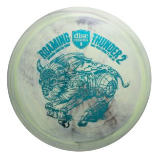 Roaming Thunder 2 - Swirly Green/Black with Teal foil stamp