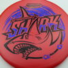 Shark - Luster Champion - 30th Anniversary - red - black - blue-fracture - 180g - 181-7g - somewhat-domey - neutral