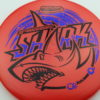 Shark - Luster Champion - 30th Anniversary - red - black - blue-fracture - 180g - 180-4g - somewhat-domey - neutral