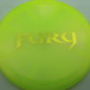 Fury - Opto-X Glimmer - yellow - yellow - 176g - 177-2g - pretty-domey - somewhat-stiff