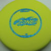 Zone - yellow - d-line - blue-fracture - 304 - 173-175g - 174-3g - super-flat - somewhat-stiff