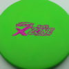 Zone - green - x-line - fuchsia-fracture - 304 - 170-172g - 172-5g - somewhat-puddle-top - somewhat-gummy