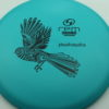 Piwakawaka - teal - strata - black - 175g - 176-0g - somewhat-domey - somewhat-stiff