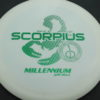 Scorpius - white - standard - green-dots-mini - 170g - 171-6g - somewhat-flat - somewhat-gummy