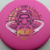 Pilot - pink - electron - black - yellow-orange-fade - silver - 172g - 172-8g - somewhat-domey-in-the-center - somewhat-stiff
