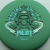Pilot - green - electron-firm - black - blue-green-fade - silver - 173g - 174-3g - somewhat-puddle-top - very-stiff