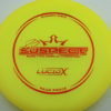 Suspect - Lucid-X - Paige Pierce 5x - yellow - bronze - 174g - 175-5g - somewhat-puddle-top - somewhat-stiff