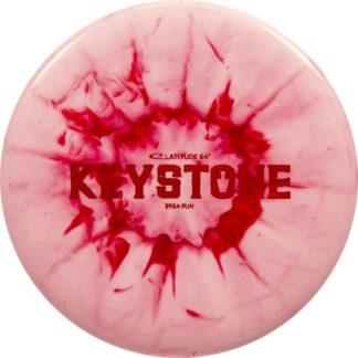 Sunburn Keystone - Splatter Pink/Red with Red foil stamp