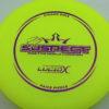 Suspect - Lucid-X - Paige Pierce 5x - yellow - purple - 176g - 174-9g - super-flat - somewhat-stiff