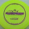 Suspect - Lucid-X - Paige Pierce 5x - yellow - purple - 173g - 174-4g - super-flat - somewhat-stiff