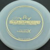 Suspect - Lucid-X - Paige Pierce 5x - white - gold - 176g - 175-7g - somewhat-puddle-top - somewhat-stiff