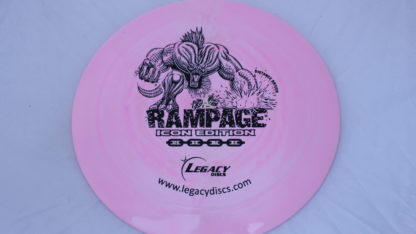 Legacy Swirly Rampage in Pink Icon plastic with black stamp.